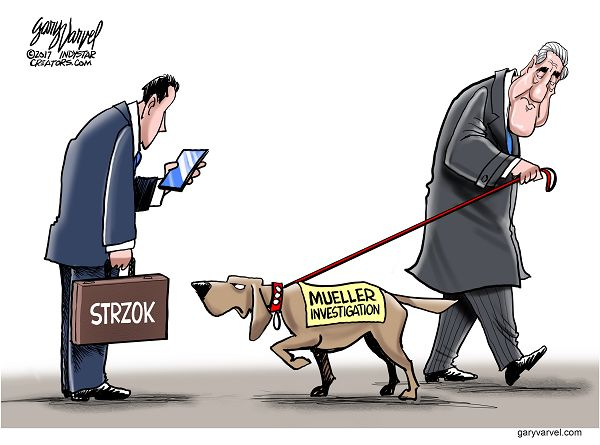 Cartoonist Gary Varvel: Mueller, Strzok investigation