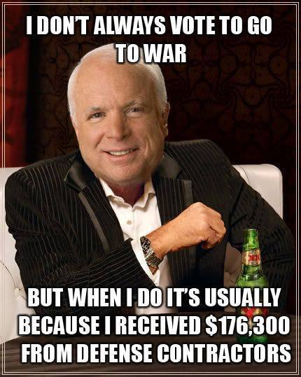 """""""The Manufactured McCain:Lifting Up A Bloodstained, Lying, Venal Servant of Capitalist Empire""""  … Even the Left weighed in to expose this RINOfraud!"""